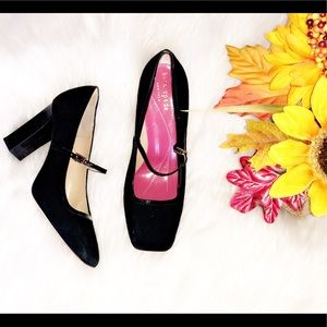 🆕KATE SPADE Black Suede Heels